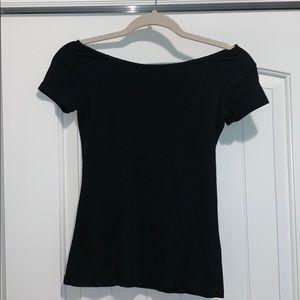 Basic Black Off-the-shoulder Top